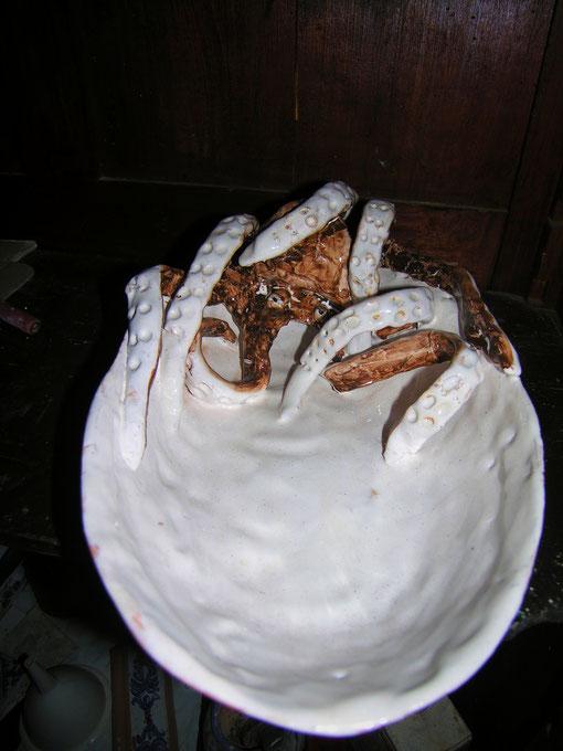 piatto dipinto a mano ceramica maiolica