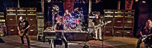Stage Proben der Gruppe Thomsen im Musiktheater Bad