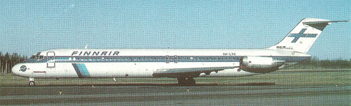 Finnair DC-9-51/Postkarte