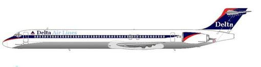 MD90-30 in der nur recht kurz gültigen Bemalung Mitte der 90er Jahre/Courtesy and Copyright: md80design