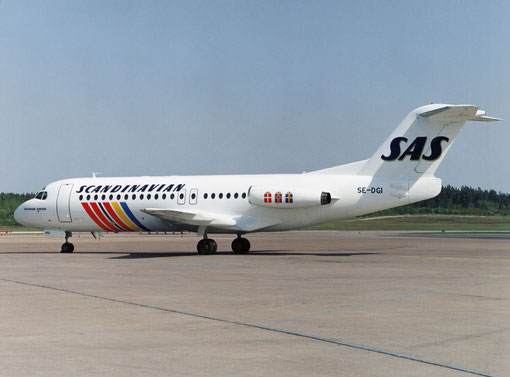 SAS setzten eine recht große Flotte von Fokker F28 ein/Courtesy: SAS
