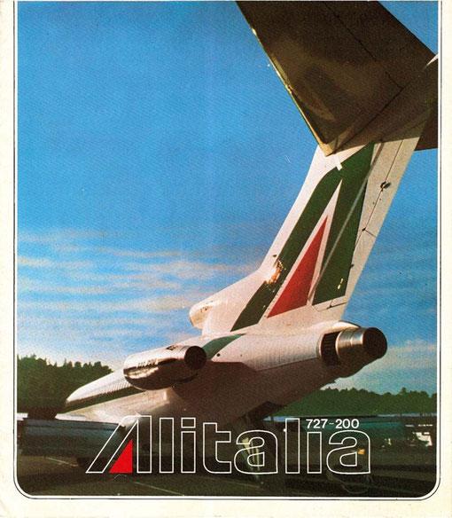 Alitalia ersetzten ihre 18 Boeing 727 bis Mitte der 1980er durch MD-82/Courtesy: Alitalia