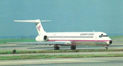 Postkarte mit einer MD-83 der German Wings