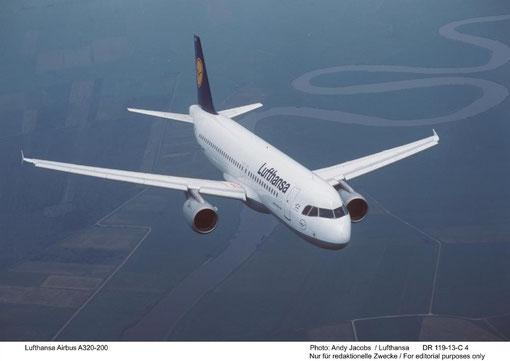 Airbus A320-200 der Lufthansa/Courtesy: Lufthansa