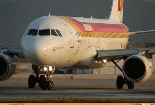 Stimmungsvolle Aufnahme einer A320 in der Dämmerung/Courtesy: Alexander Portas