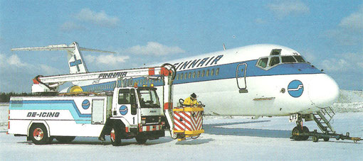 DC-9-50 mit Enteisungswagen/Courtesy: Finnair