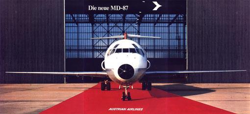 """""""Die neue MD-87""""/Courtesy: Austrian Airlines"""