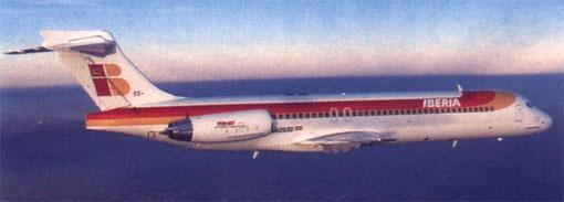 Einst mit 24 MD-87 der weltweit größte Nutzer der MD-87 - Iberia/Courtesy: McDonnell Douglas