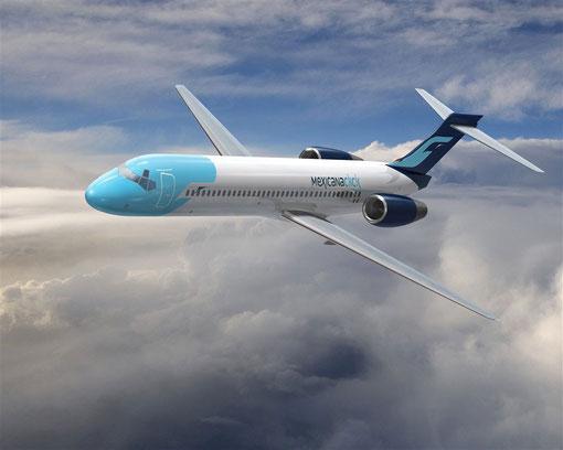 Modellfoto einer Boeing 717 der MexicanaClick/Courtesy: Boeing