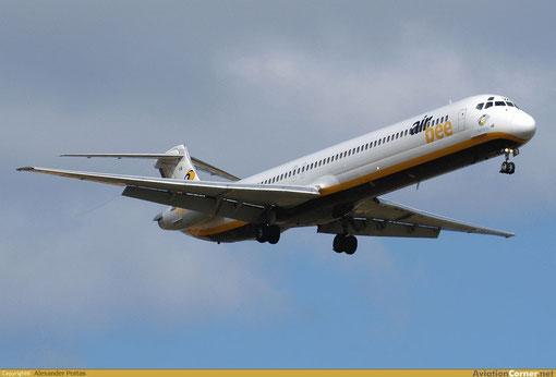 Eine MD-82 im Landeanflug/Courtesy: Alexander Portas