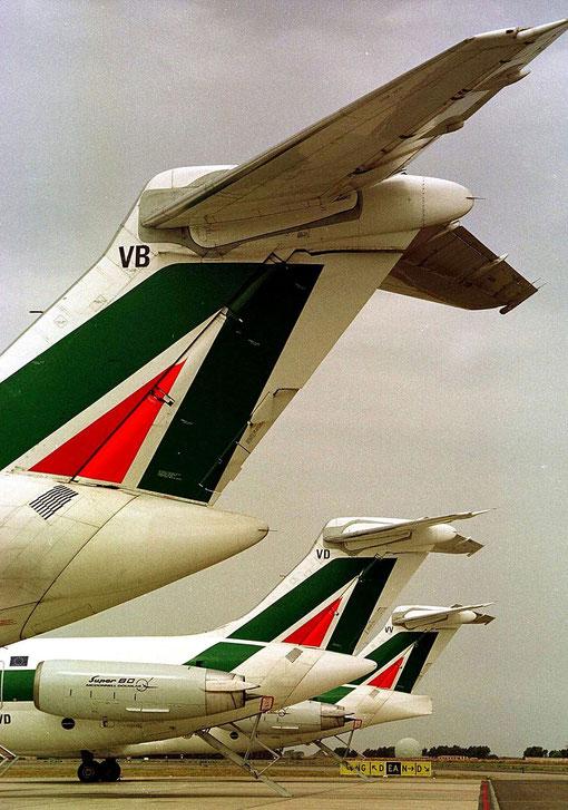 Größter Nutzer der MD-80 in Europa waren Alitalia/Courtesy: Alitalia
