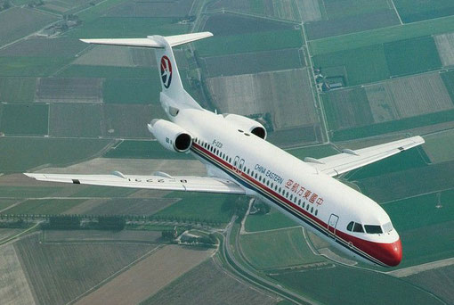 China Eastern Airlines setzen neben der MD-82 auch die Fokker 100 ein/Courtesy: Fokker