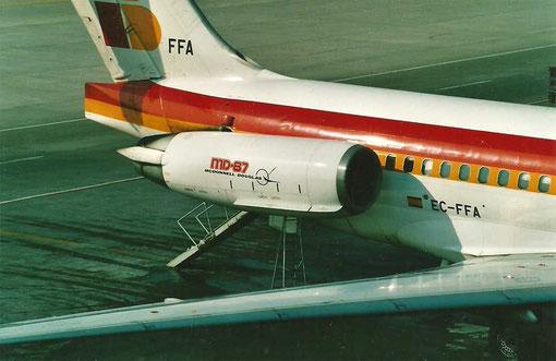 Die Triebwerke sind die Hauptlärmquelle der MD-80/Courtesy: Lukas Vetter