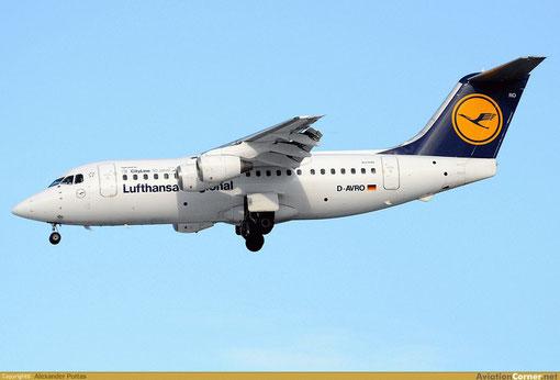 Diese AVRO RJ85 hat eine sehr passende Registrierung: D-AVRO!/Courtesy: Alexander Portas