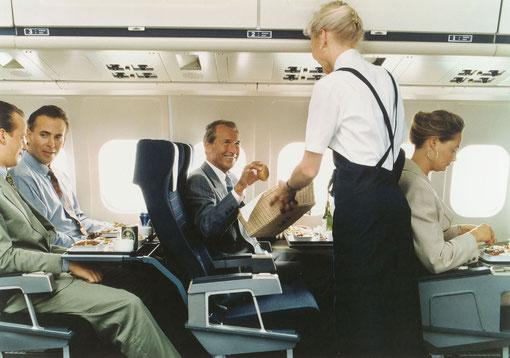 Hervorragende Wirkung der MD-80-Kabine Ende der 1980/Courtesy: SAS