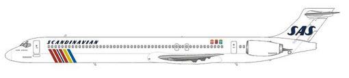 MD90-30 im klassischen Farbkleid der damals sehr erfolgreichen SAS/Courtesy and Copyright: md80design