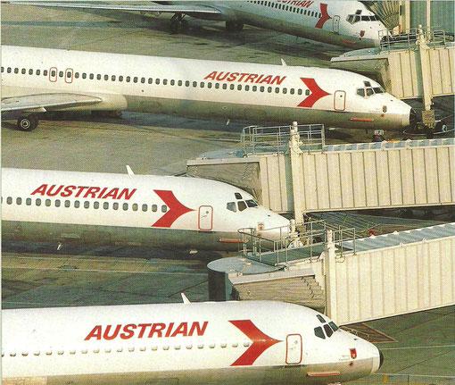 Jahrelang ein vertrauter Anblick in Wien-Schwechat - MD-80 von Austrian/Courtesy: Austrian Airlines