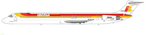 Iberia setzte eine MD-83 ein/Courtesy and Copyright: md80design