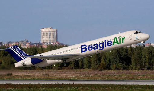 Retuschiertes Foto einer MD-80/Courtesy: Beagle Air