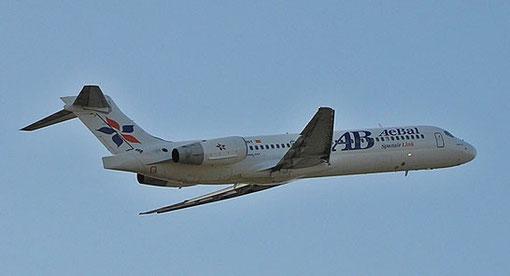 AeBal Boeing 717 im Steigflug/Courtesy: Jordi Palacio Granado