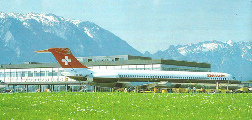 Swissair MD-81/Postkarte