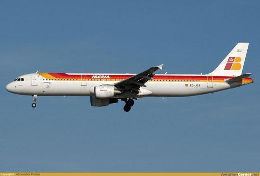 Eine Airbus A321-200 der Iberia/Courtesy: Alexander Portas