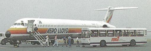 Auch Aero Lloyd waren mit ihren MD-80 sehr zufrieden/Postkarte