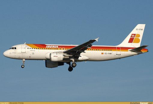 Eine Airbus A320-200 der Iberia/Courtesy: Alexander Portas