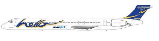 Eine MD-90 flog auch für eine kurze Zeit bei der britischen Aviajet/Courtesy and Copyright: md80design
