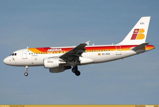 Eine Airbus A319-100 der Iberia/Courtesy: Alexander Portas