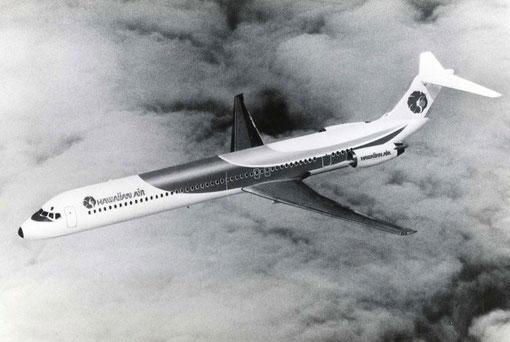 Modellfoto einer MD-81 der Hawaiian Air/Courtesy: McDonnell Douglas/Collection of John Evanich
