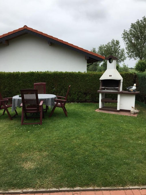 Ferienhaus Scholle K11 -Gartenansicht-