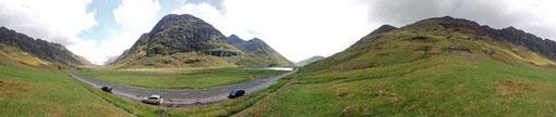 360° Panorama bei Glencoe