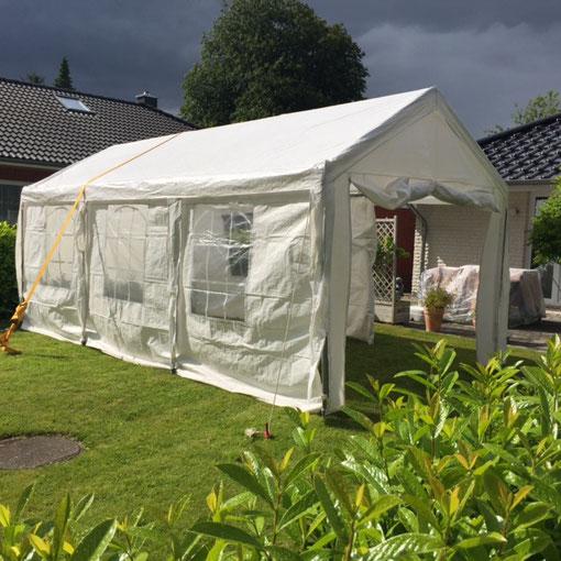 auf dem Bild sehen Sie ein Zelt in der Größe 3x6! Das baugleiche 4x6 ist einen Meter breiter!