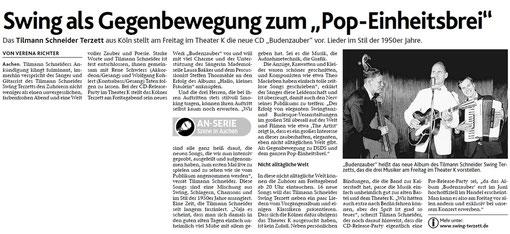 Aachener Nachrichten, 16.05.2012 - zum Vergößern Bild anklicken