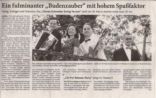 Aachener Zeitung, 04.05.2012 - zum Vergrößern Bild anklicken