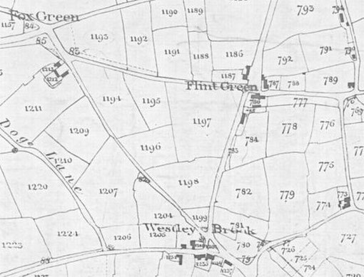 Extract from 1840s Tithe Map