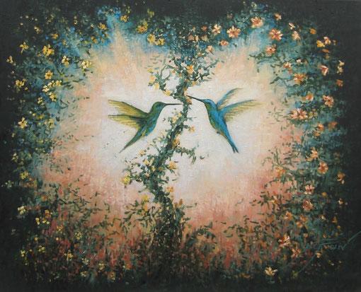 Jaulas - 73 x 60 cm al óleo sobre lienzo.