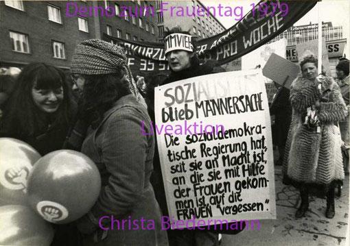 Demonstration zum Tag der Frau 1979, Foto von Eva Dité
