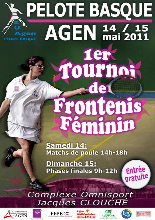 1er Tournoi de Fontenis d'Agen, 14 et 15 mai. Condom, Brive, Marmande, Agen.