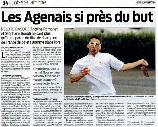 Sud-Ouest 28/07/09