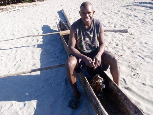 pêcheur au bénitier