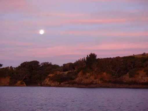 full moon at Cactus Bay