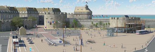 Vue du futur visage de l'esplanade St-Vincent, qui sera achevé en 2013.