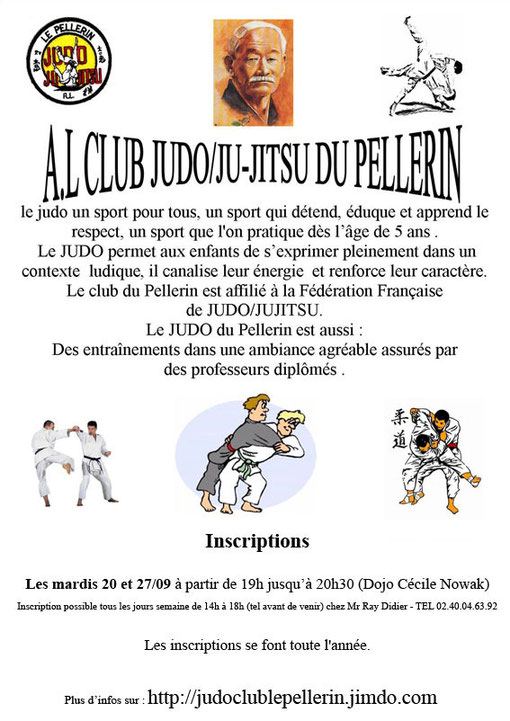 A.L Judo Club Le Pellerin - Inscriptions 2011/2012
