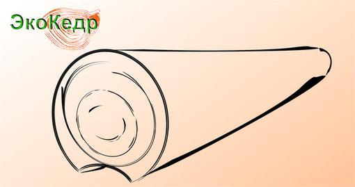 Оцилиндрованное бревно из Алтайского кедра
