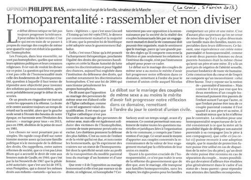 Tribune de P.Bas, La Croix, 05.02.2013