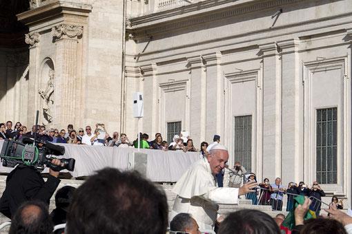 Die Generalaudienz mit dem Heiligen Vater