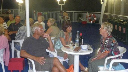 netter Abend an Deck mit unseren österreichischen Freunden