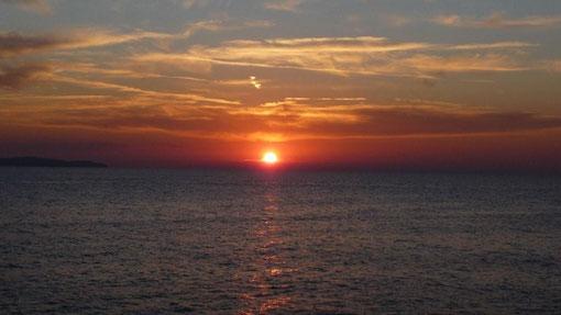 Sonnenuntergang am Camp Cikat Mali Losinj
